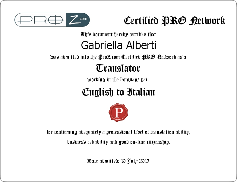 english to italian translator specialised in medical texts