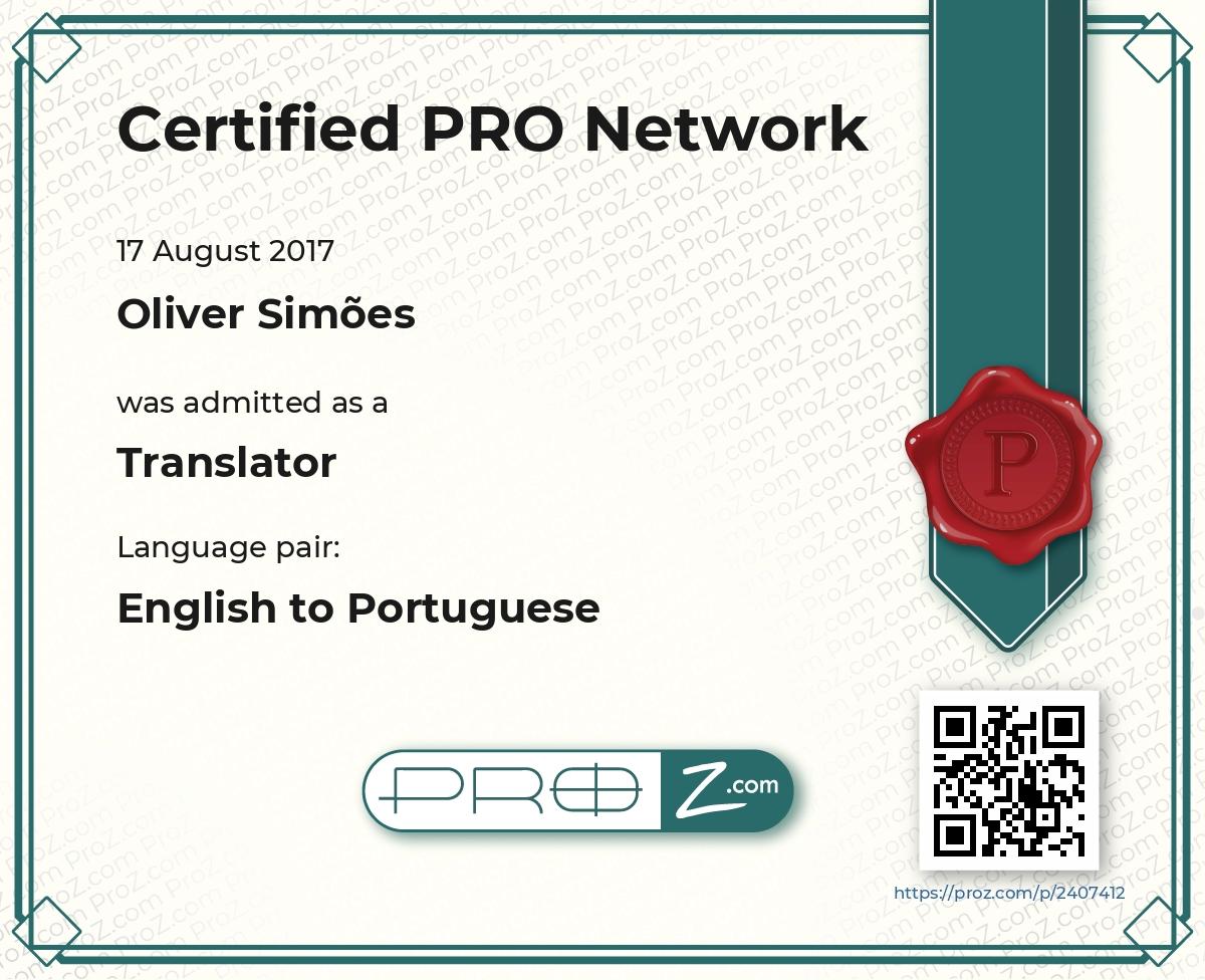 Certificado Pro Network