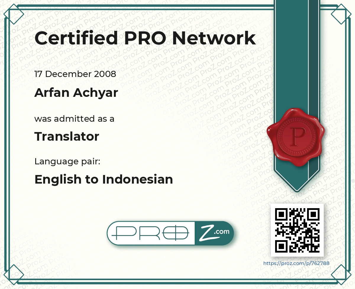 ProZ.com Professional Certification