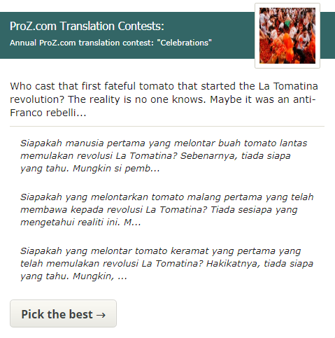 Click here vote for the best translations