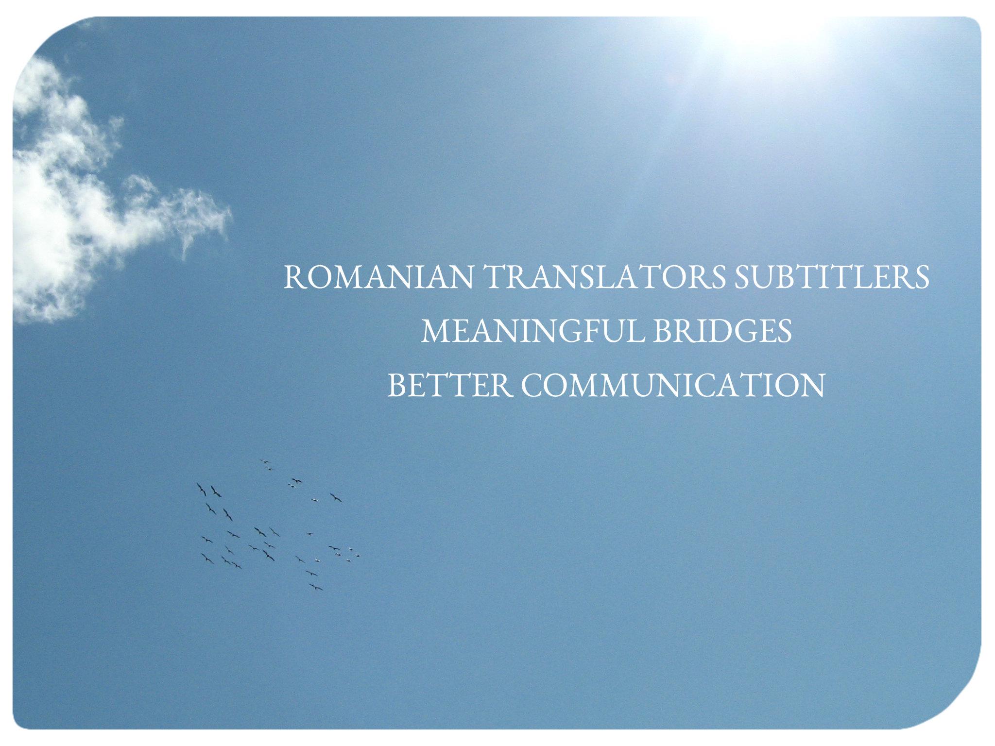 Team logo ROMANIAN TRANSLATORS - SUBTITLERS